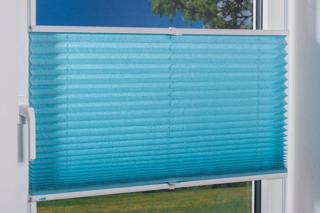 K-home Klemmfix-Plissee  80 x 210 cm (B x L) L) L) Grau Lichtschutz +++ Moderne Crushed Optik +++ B077ZDGJQQ Plissees ac2dc0