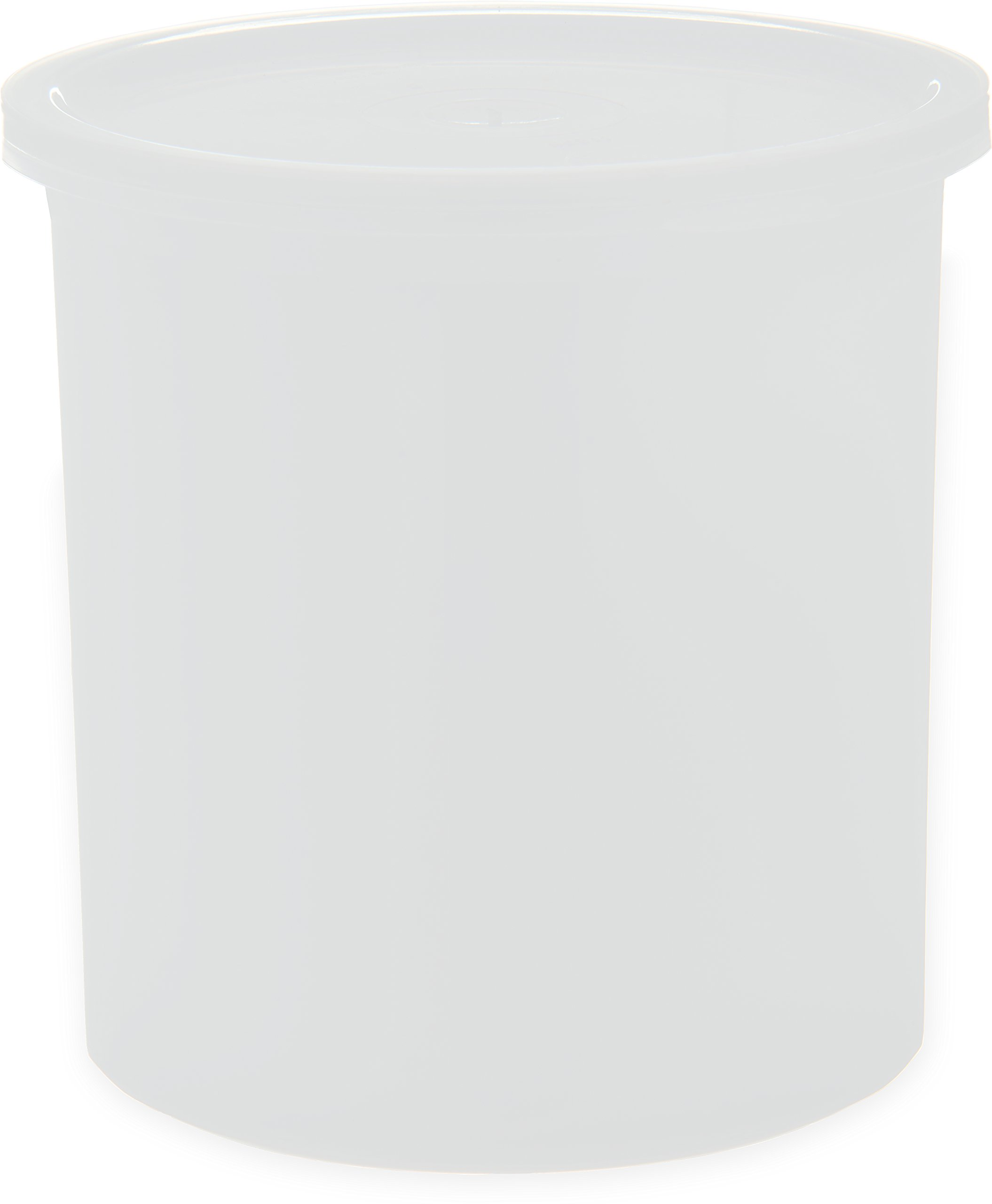 Carlisle 030102 Solid Color Commercial Round Storage Container with Lid, 1.2 Quart Capacity, White (Pack of 12)