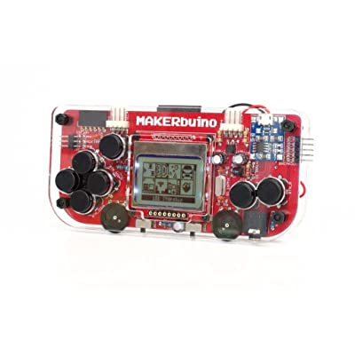 MAKERbuino kit with Tools - Soldering kit - Arduino - DIY Retro Game Console for Kids - Learn Electronics and Programming - Micro USB - Tools Included - USB Soldering Iron: Toys & Games