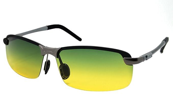 LZXC Gafas de Sol Polarizadas Para el Día y la Noche para Hombres con Marco AL