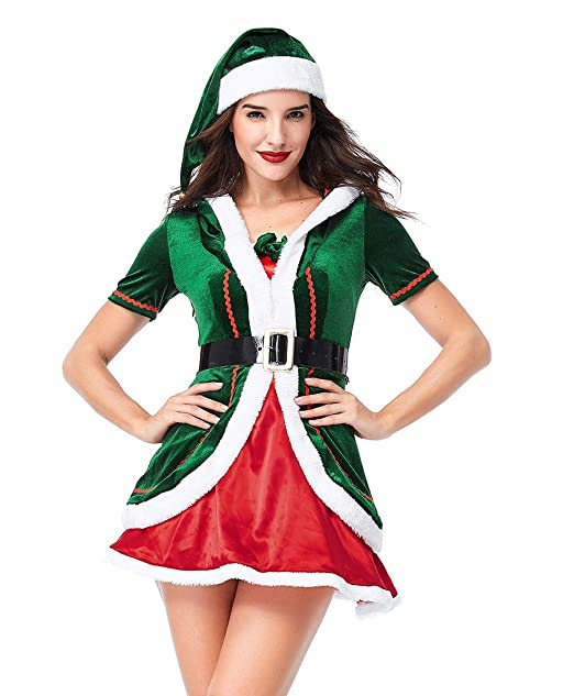 Amazon.com: BADI NA - Disfraz de elfo con sombrero para ...