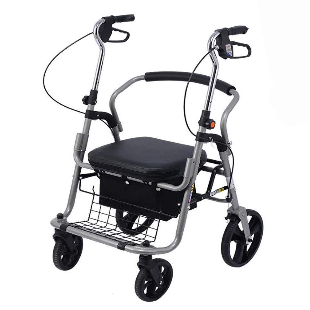 H.JPT caminador Adulto Andador de Movilidad con Asiento Plegable ...