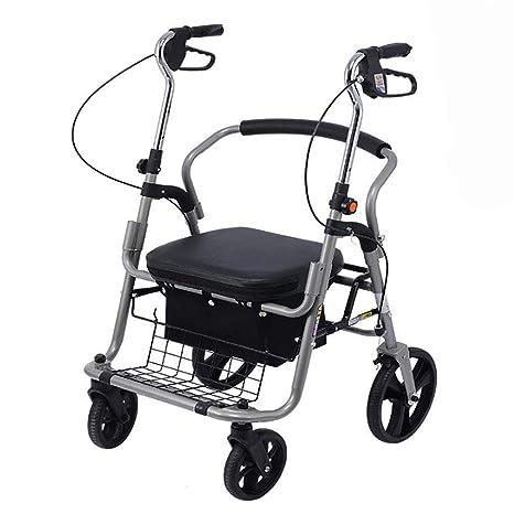 H.JPT caminador Adulto Andador de Movilidad con Asiento ...