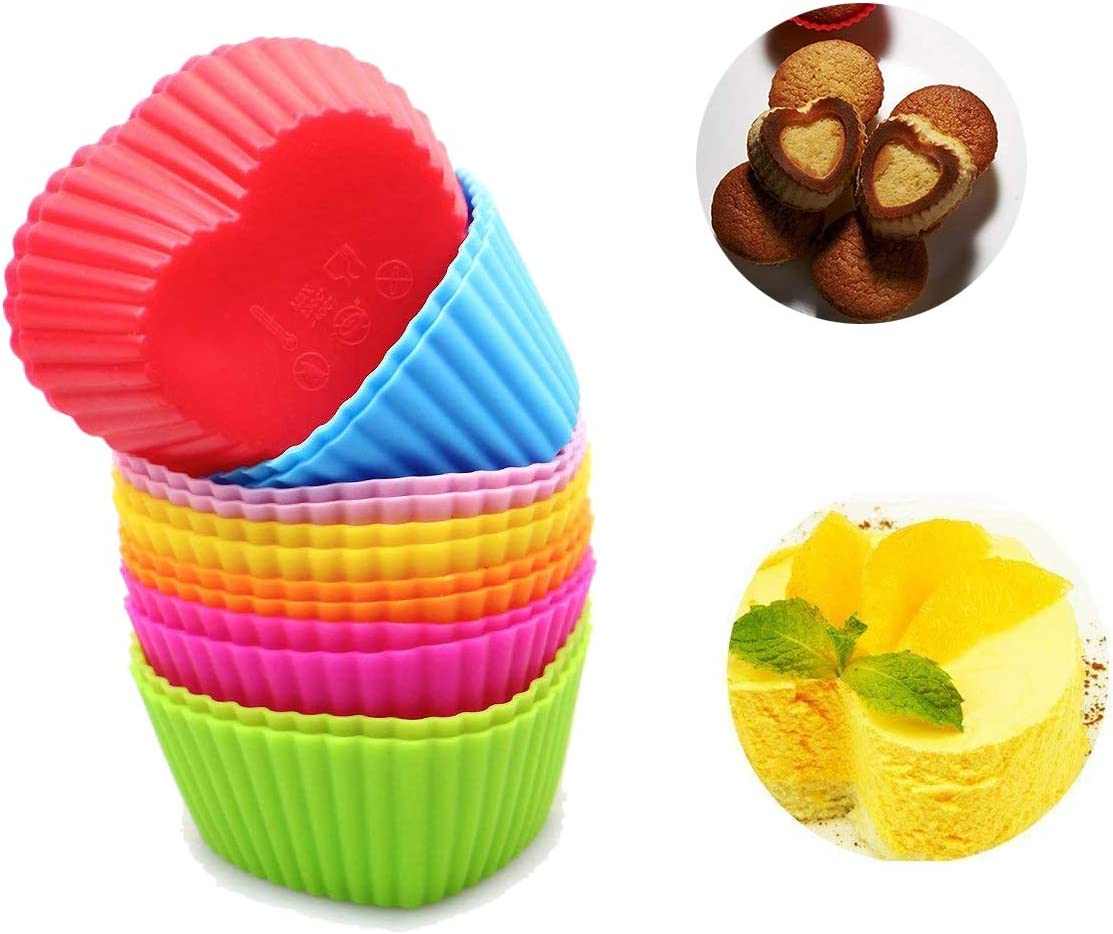 300 Pcs Mini Paper Cake Cup Liners Baking Cupcake Cases Muffin Cake Random Color