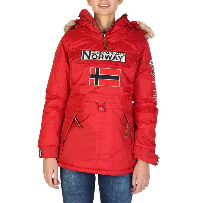 Geographical Norway Chaqueta Boomera_Woman_New Mujer Color: Rojo Talla: 4: Amazon.es: Ropa y accesorios
