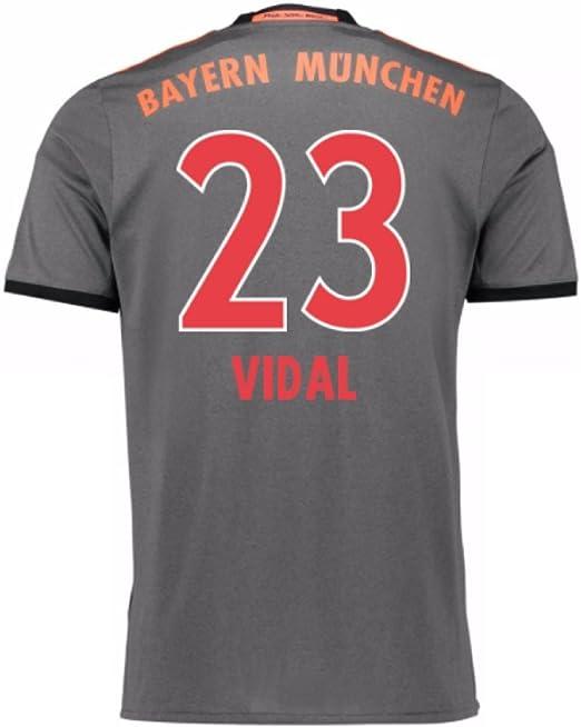 adidas FC Bayern München – Camiseta Visitante. Réplica, Vidal 23 ...