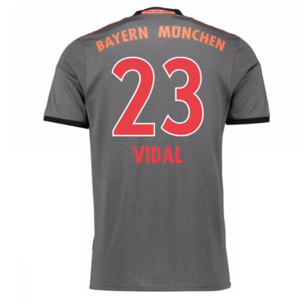2016-17 Bayern Munich Away Shirt (Vidal 23) B077Z5LBH4Grey Large 42-44\