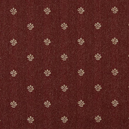 C606 Rustic Red and Beige Leaves Country Style Upholstery Fabric by The - Floral Upholstery Style Designer