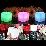 3 Cubes Lumineux LED - Lampes d'Ambiance avec Couleurs Changeantes, Lumières d'Atmosphère Multicolore Déco de PK Green
