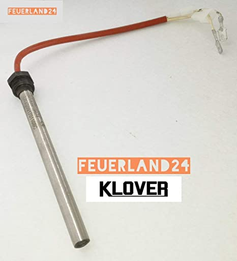 Bujía de encendido para estufa de pellets; Diámetro 9,5 140 mm 148 mm