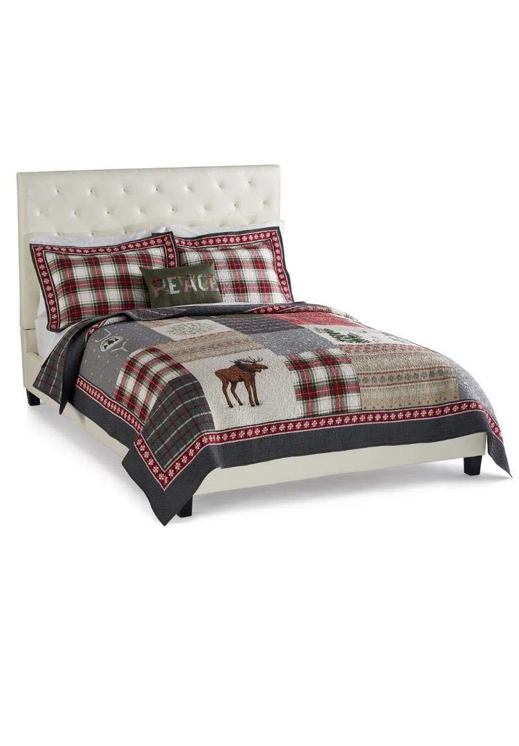 Amazon.com: St. Nicholas Square Holiday Collection Joy Quilt, King ...