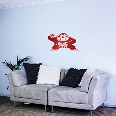 8-bit Donkey Kong Vinyl Wall Art Sticker: Amazon.co.uk: Kitchen & Home
