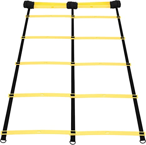 Gorilla Sports condición física Escalera Entrenamiento Escalera Agilidad, Steps: 2: Amazon.es: Deportes y aire libre