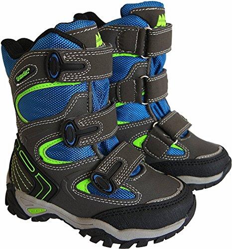 Jungen Kinder Winter Stiefel Boots gr.25-30 art.nr.45018-K d.grau-blau-gr眉n