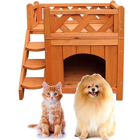 Amazon.com: Blossom Store - Casa de madera para gatos y ...