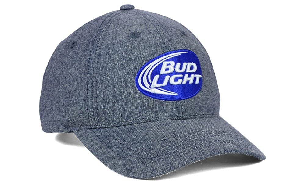 cd441a50ec9 Budweiser Bud Light Beer Men s Adjustable Strapback Hat Cap by Top of the  World at Amazon Men s Clothing store