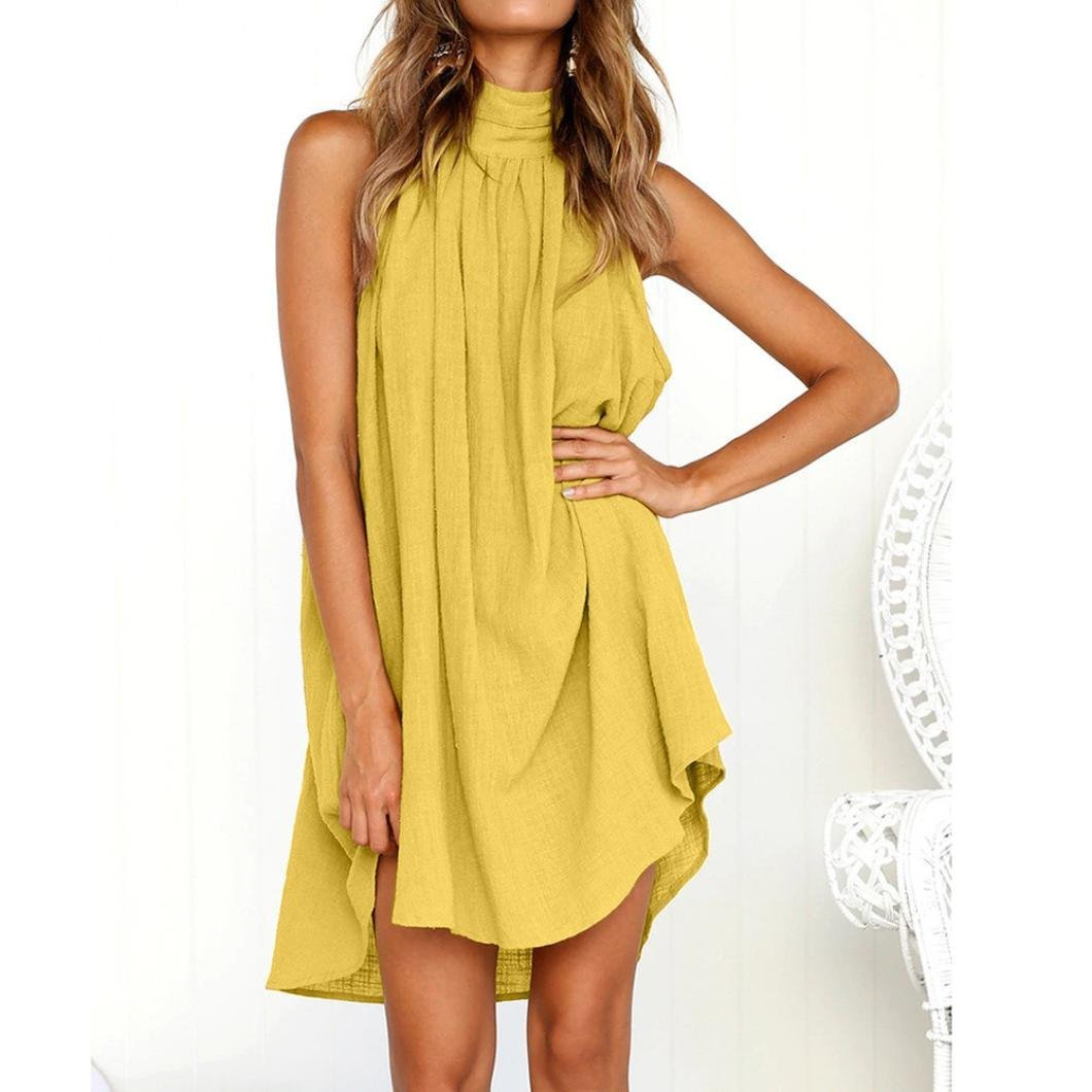 Short Sleeve Solid Color Dress O-Neck Long Dress with Pockets Yutao Plus Size Dress for Women