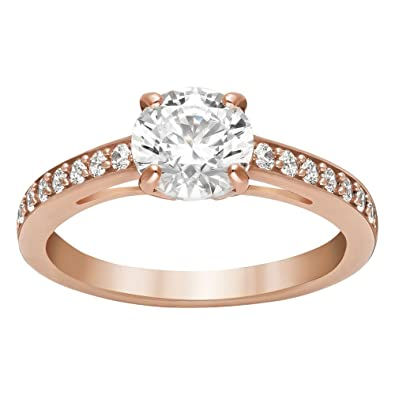 ec5d7757c Amazon.com: Swarovski Attract Round Ring, Rose Gold-Plated: Jewelry
