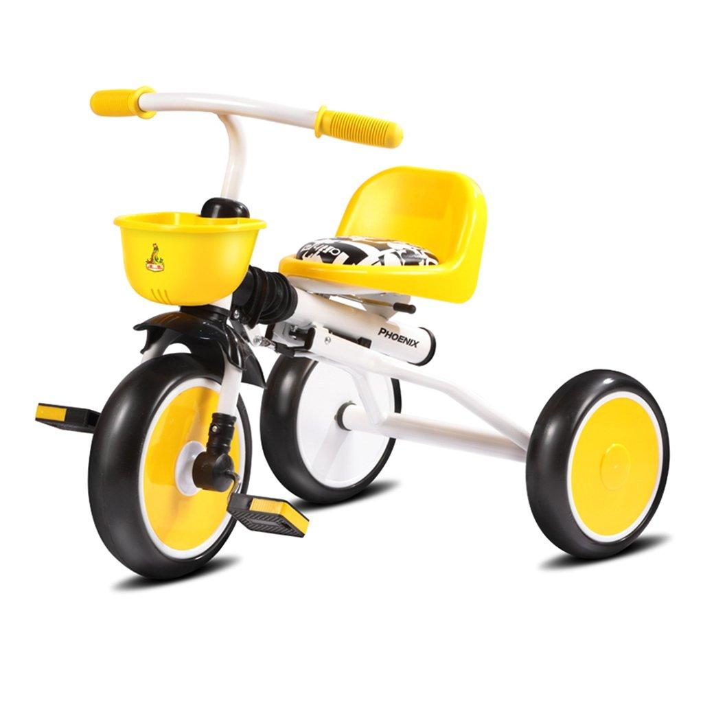 HAIZHEN マウンテンバイク 子供の三輪車1-3歳の古い軽量折り畳み式ショッピングバスケットラバーダンピングフォームホイール自転車 新生児 B07DLB7GZK1