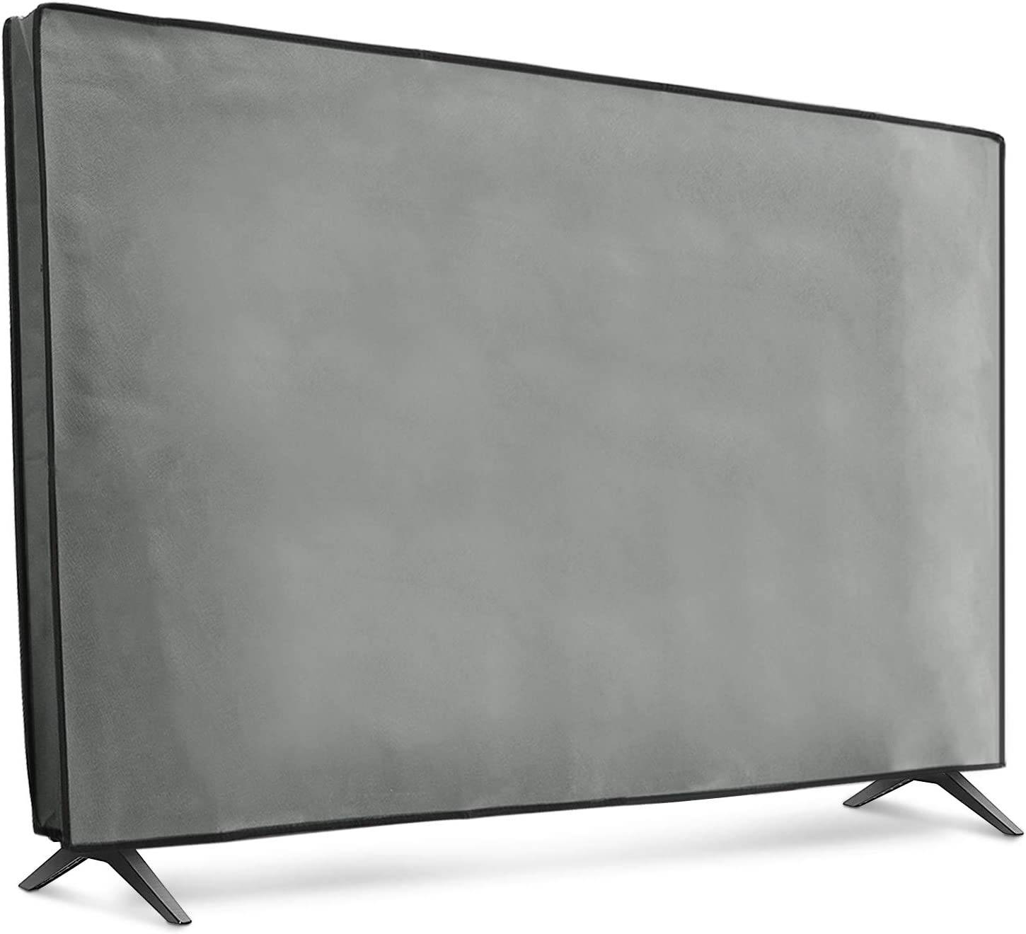 "kwmobile Dust Cover for 49-50"" TV - Fabric TV Display Protector for Flat Screen TVs - Light Grey"