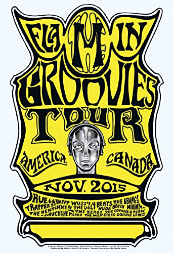 Flamin Groovies Nov 2015 Tour America Canada art by Cyril Jordan