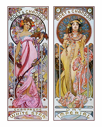 - Decorative Art Nouveau Advertisement Reprint: Alphonse Mucha Collection ~ MOET & CHANDON - Champagne (8