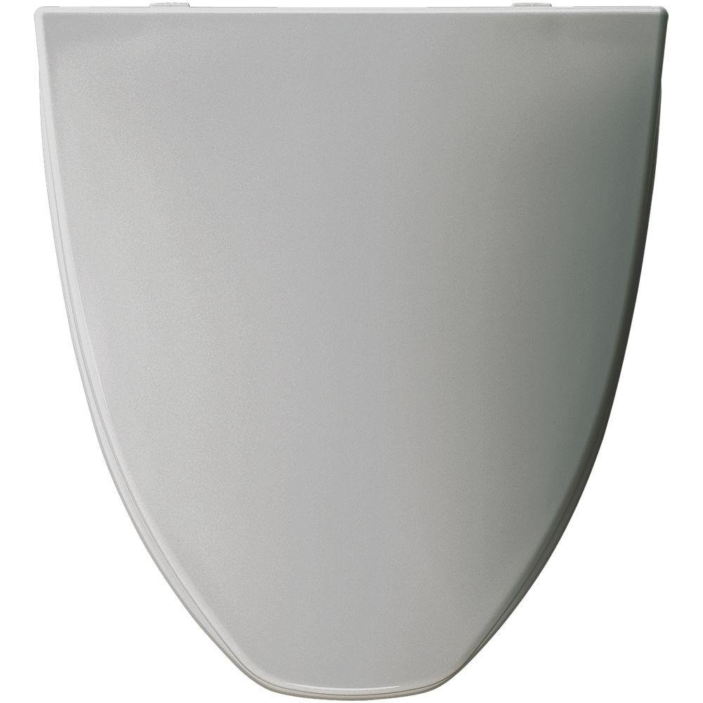 Bemis LC212 162 Elongated Closed Front Toilet Seat, Silver