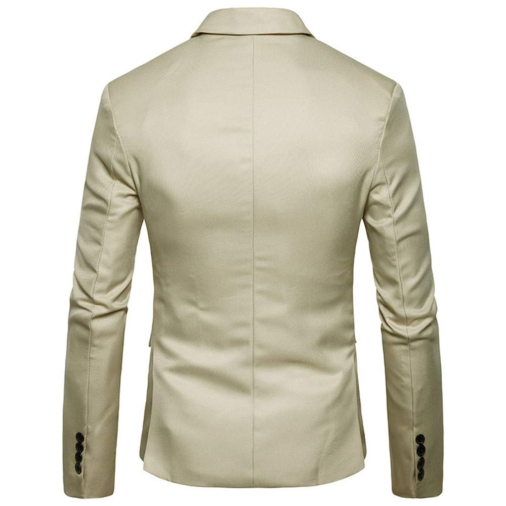 iYYVV Mens Autumn Winter Cardigan Casual Pocket Button Jacket Long Sleeve Blazer Suit