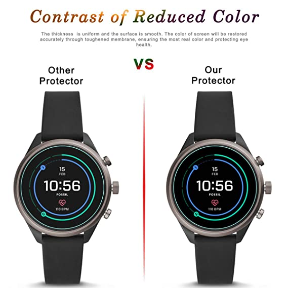 3 unidades] Fossil Sport Smartwatch (41mm) Protector de ...