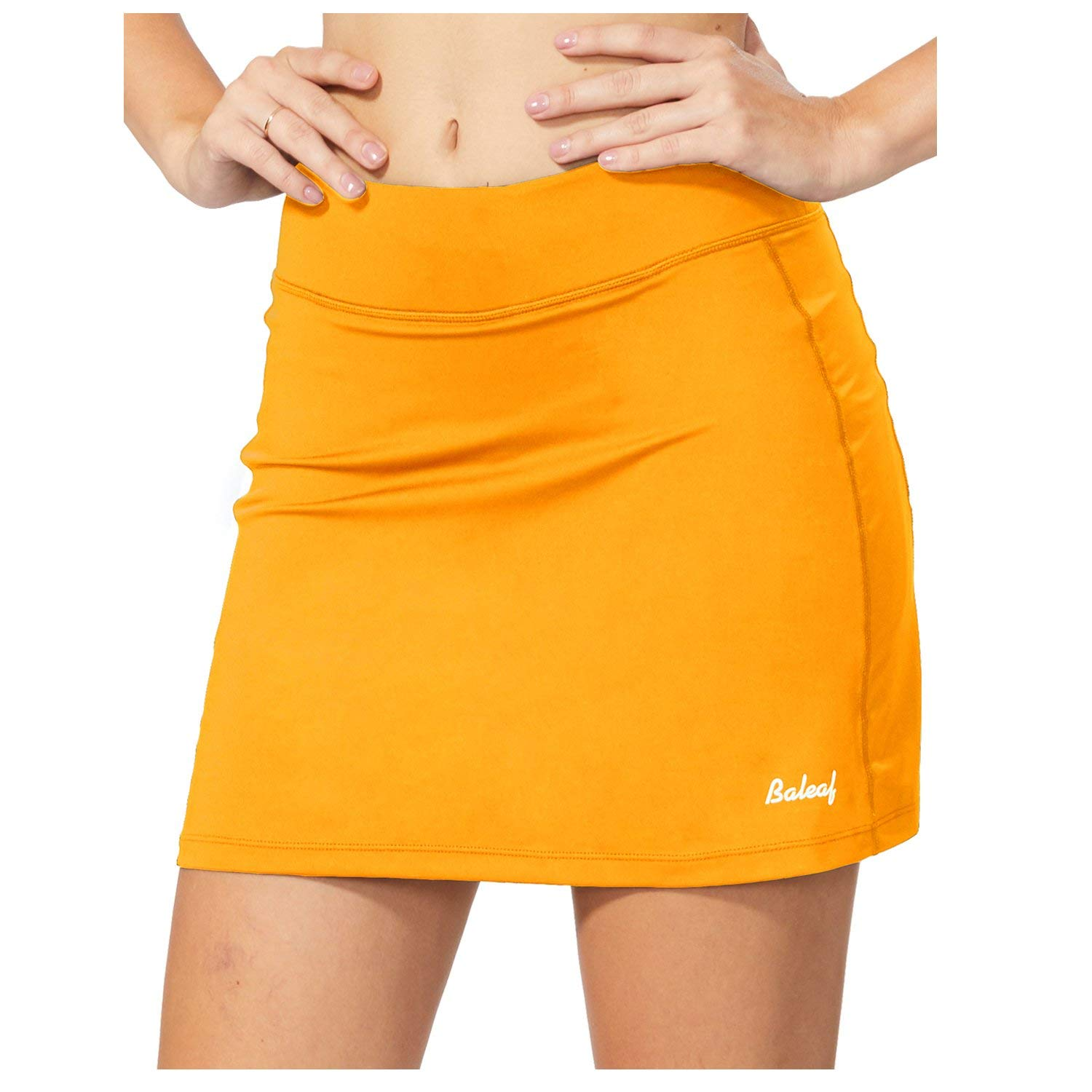 BALEAF Women's Active Athletic Skort Lightweight Skirt with Pockets for Running Tennis Golf Workout Yellow Size XS by BALEAF