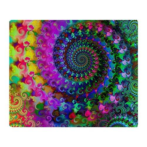 CafePress - Psychedelic Rainbow Fractal Pattern Throw Blanket - Soft Fleece Throw Blanket, 50