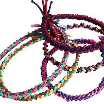 Amazon.com   LAMEIDA Set of 5 Ponytail Holders Elastic Hair Ties Handmade  Hair Rope Band Muticolor Bobbles(Random Colour)   Beauty 04443186e09