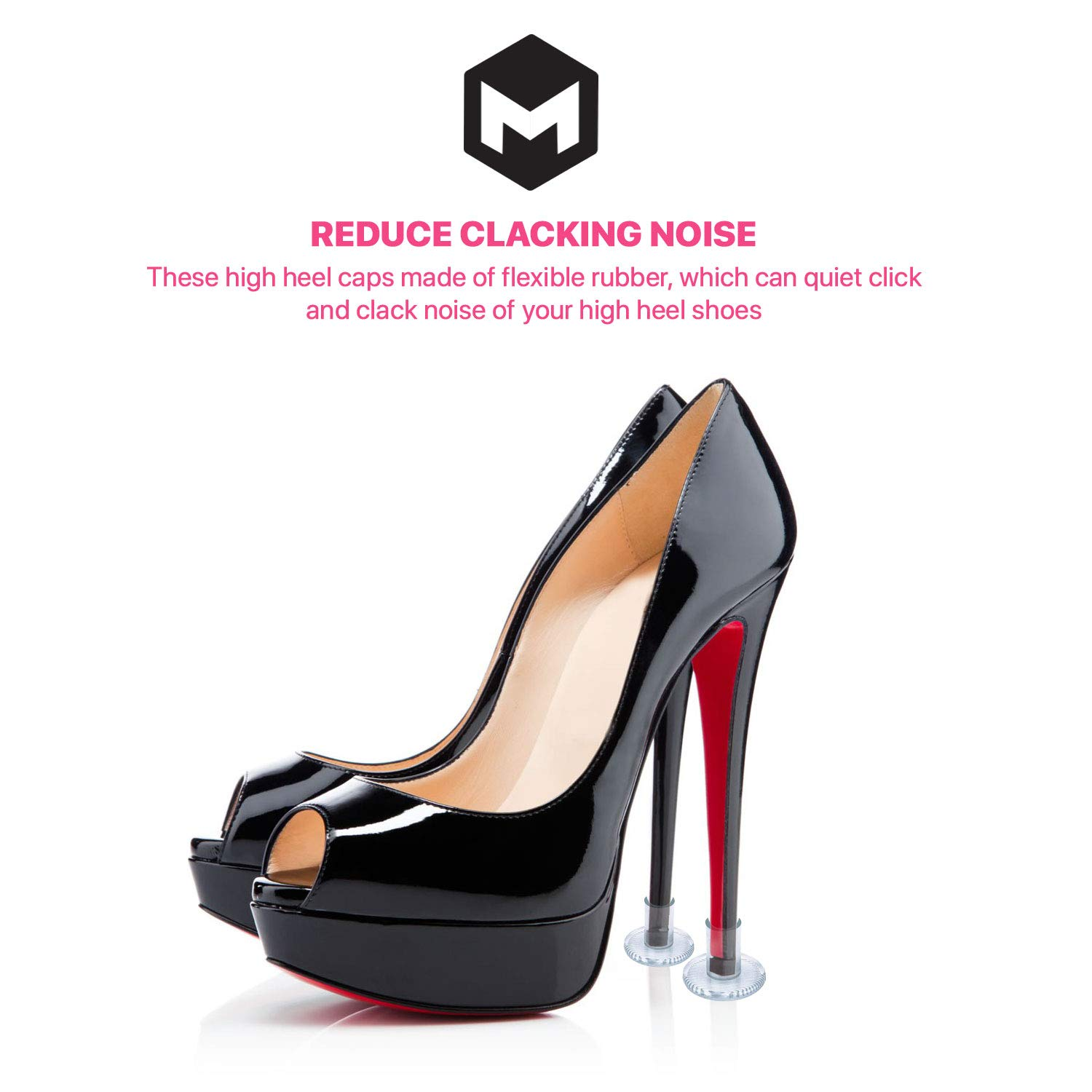 77b8101bf3 High Heel Protectors by MEGON - Heels Stopper for Women's Shoes, 6 pairs  Small/Medium/Large - Perfect for Weddings, Races, Formal Occasions - ...