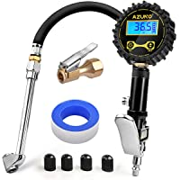 $25 » AZUNO Digital Tire Inflator with Pressure Gauge, 200 PSI Heavy Duty Air Compressor Accessories,…