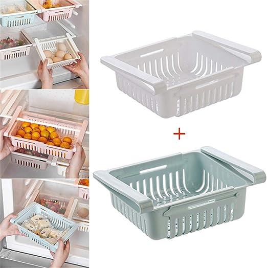 MON Organizador retráctil para cajón de frigorífico, Estante para ...