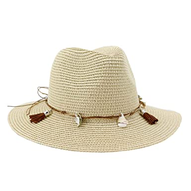 Kids Girls Boy Summer Trilby Floppy Fedora Straw Wide Brim Beach Cap Sun UV Hat
