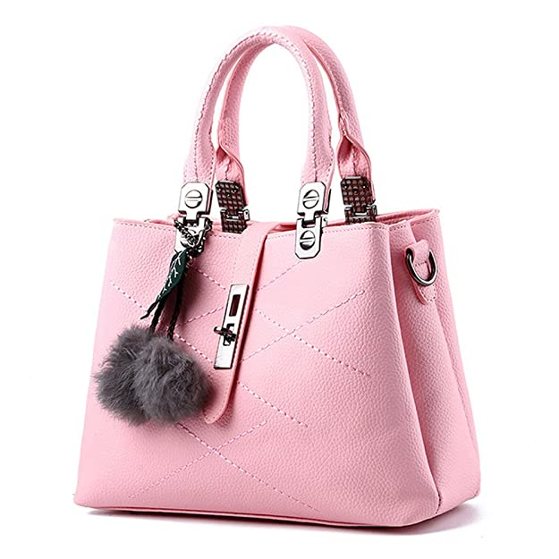 d4c4d00769 BAOFASHION Women s Retro Pu Leather Handbag Lady s Line Tote Bags  Handbags   Amazon.com