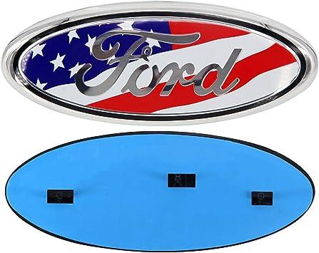 11-16 Explorer US Flag 9inch Front Grille Tailgate Oval Emblem Badge Nameplate fit for Ford F250 F350 11-14 Edge 06-11 Ranger