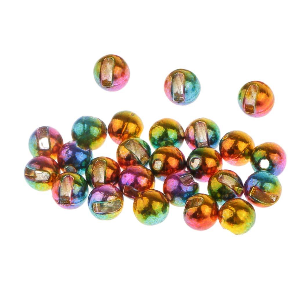 perfk 25 St/ück Wolfram 2,4 mm Fliegenbinden Perlen f/ür Jig Haken Angeln Zuebeh/ör