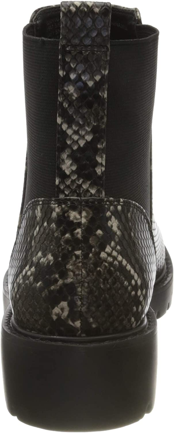 Steve Madden Gliding Bootie, Chelsea Boots Femme Multicolore Grey Snake 004
