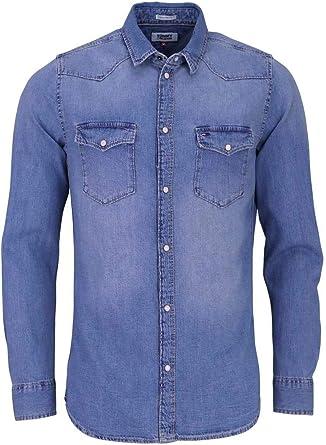 Tommy Hilfiger Western Denim Shirt Mslb Camisa para Hombre: Amazon.es: Ropa y accesorios