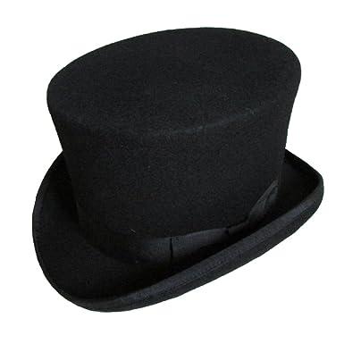 b1adf246595da Elong Mens 100% Wool Felt Magic Top Hats Satin Lined 5