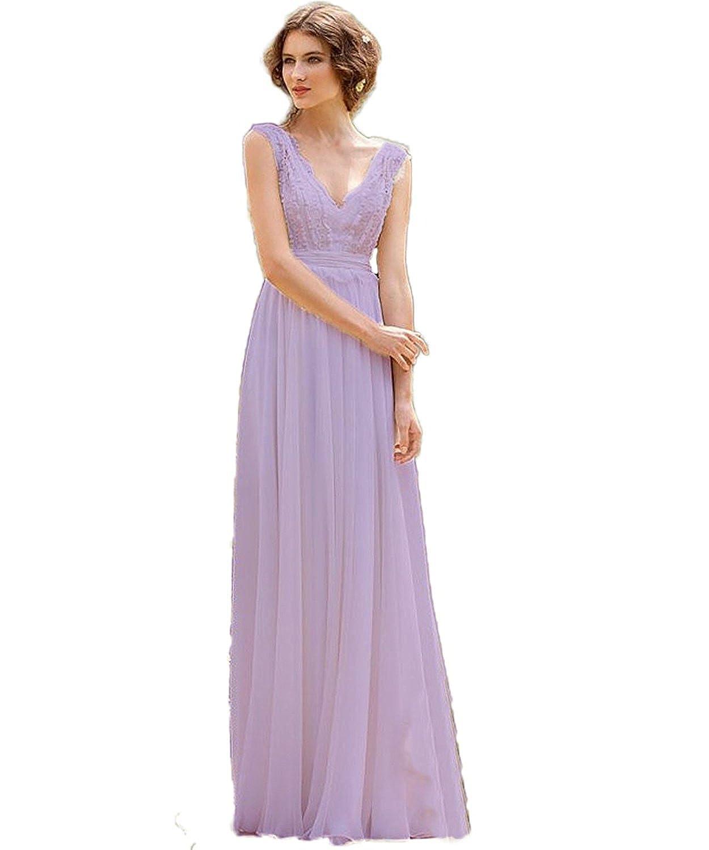 CoCogirls Braut Chiffon V-Ausschnitt Cap Sleeve Kleid Bohemien ...