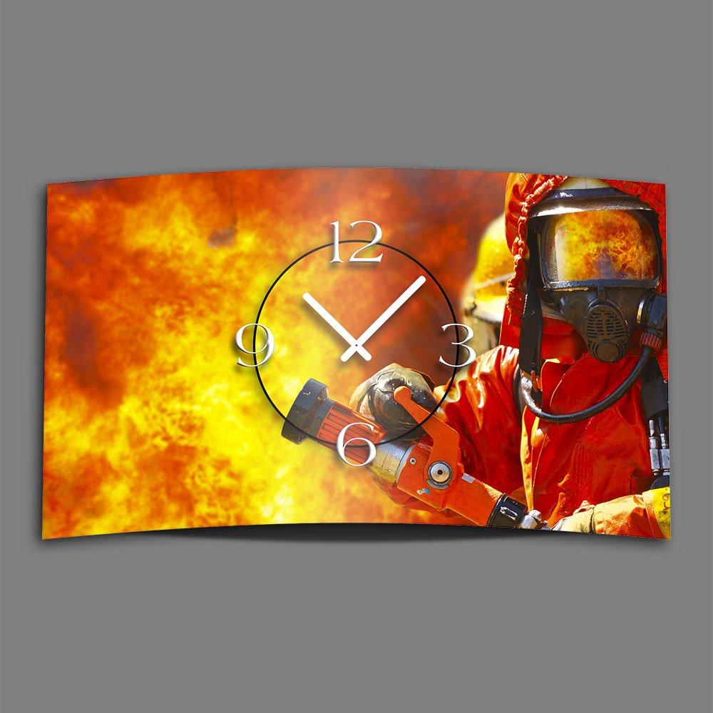 Feuerwehr Designer Wanduhr modernes Wanduhren Design leise kein ticken dixtime 3D-0062