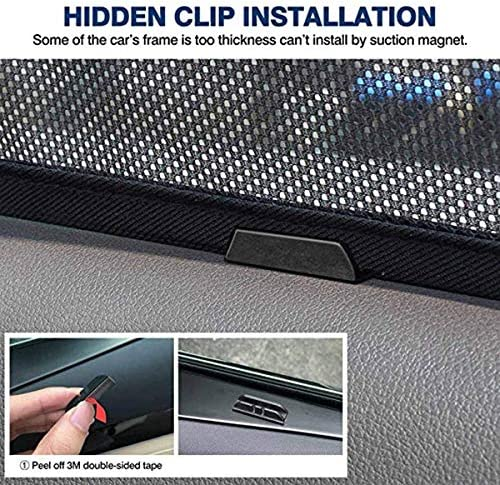 Monland 6Pcs Magnet Mesh Car Side Window Sun Shades,Uv Rays Window Shade For Cx-5 2017-2019