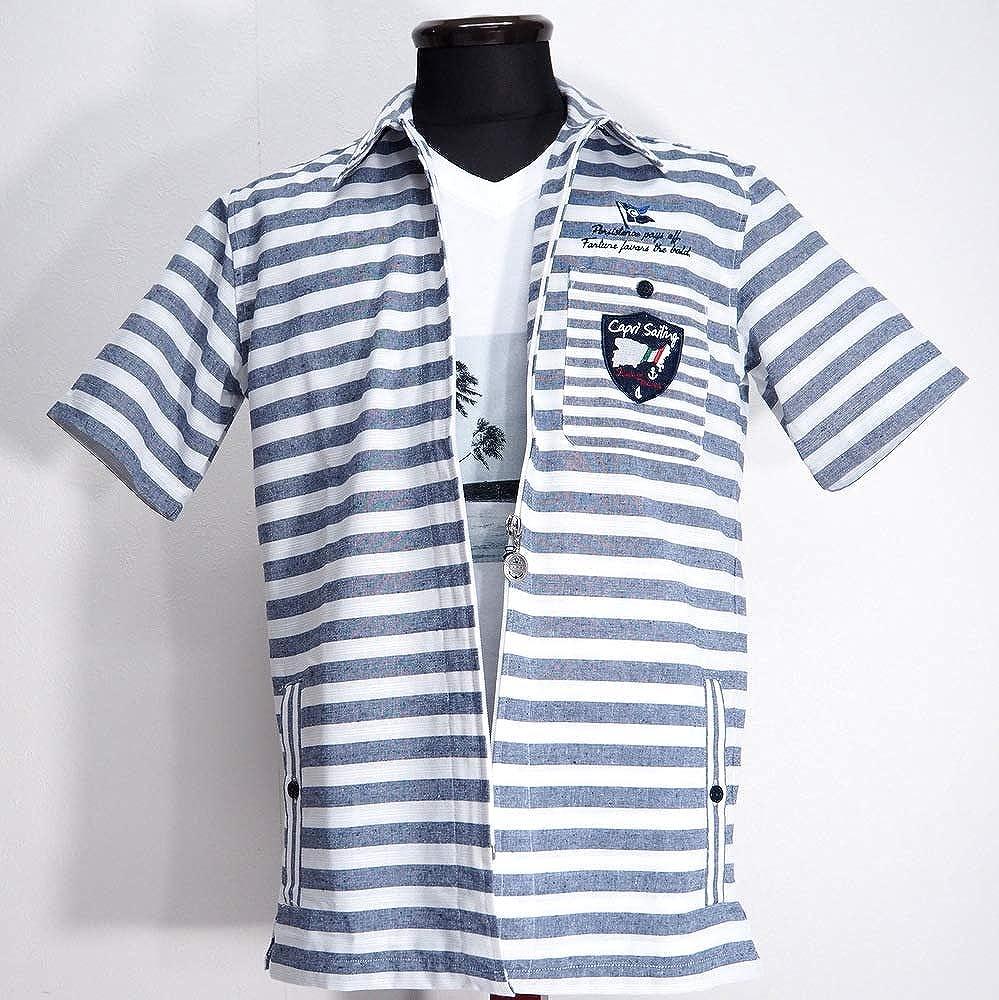 最前線の 50261 CAPRI カプリ 半袖 ジップアップシャツ ジップアップブルゾン 半袖 ネイビー ネイビー 50261 46(M) サイズ メンズ カジュアル 男性 春夏 ゴルフ 通販 B07NP7L1Z7, 京都祇園ボローニャパン:7b0839fc --- narvafouette.eu
