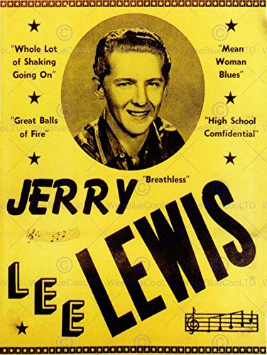 MUSIC ADVERT JERRY LEE LEWIS WHOLE LOT SHAKING BALLS FIRE POSTER PRINT BB6748B (Jerry Lewis Pictures compare prices)