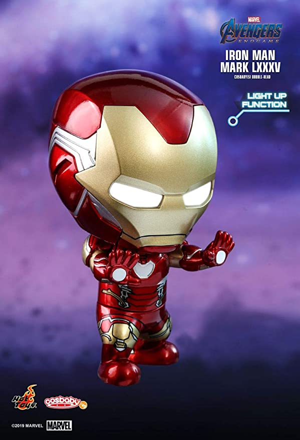 MK 85 Marvel Toys Avengers Fine Hot GIOCO IRON MAN MARK LXXXV Cosbaby Light Up