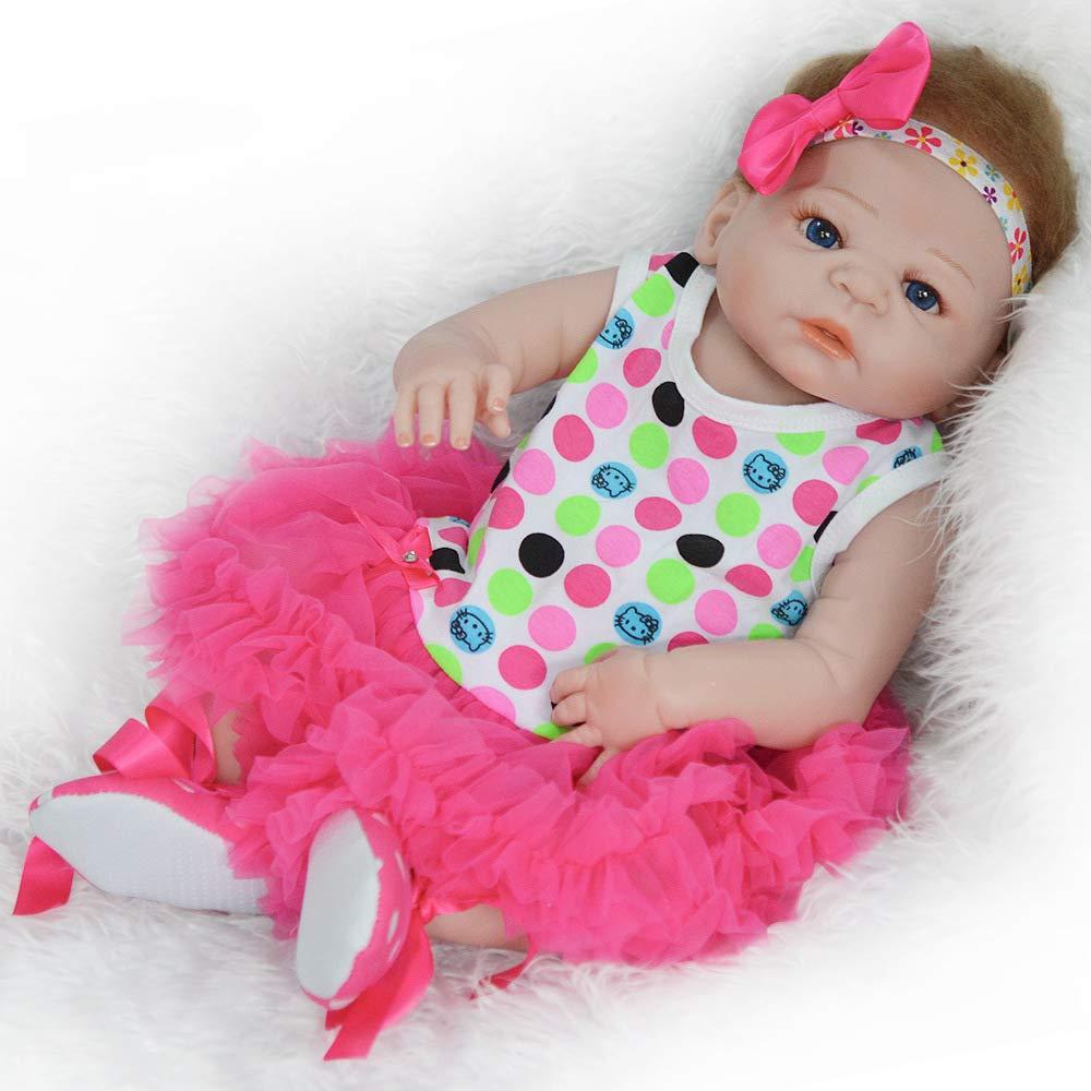 Volle silikon körper real touch baby 55 CM waschbar zwang reborn puppe realistisch neugeborenes baby puppe