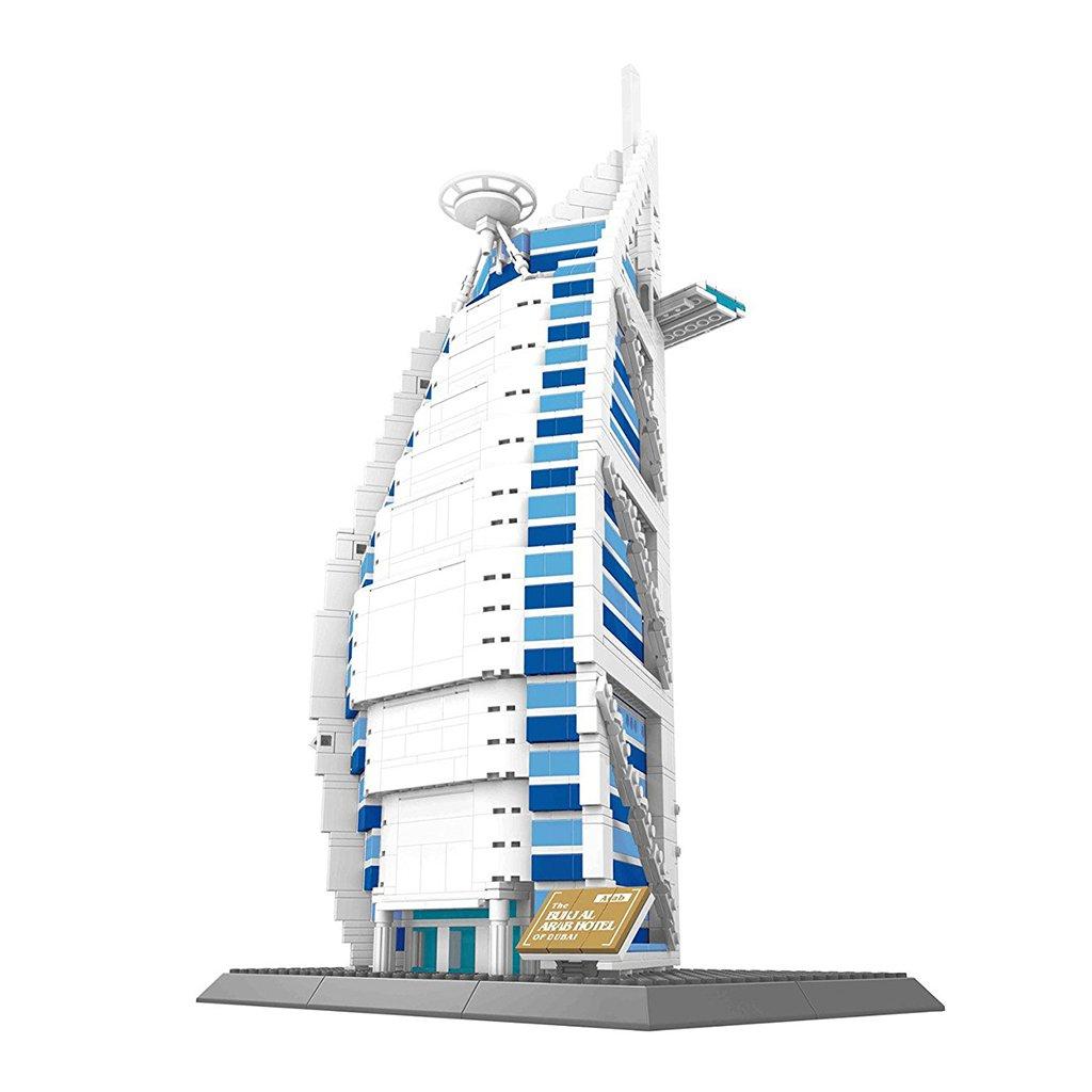 D DOLITY Giocattolo Blocco Per Costruzione Monumento Famoso In Plastica - dubai burj al arab hotel,1307 pezzi